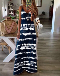 Sleeveless Ink Beach Holiday Daily Fashion Maxi Dresses