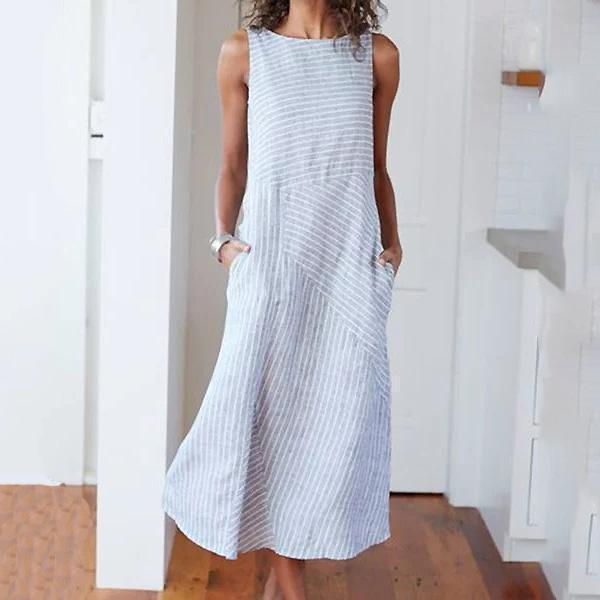 Striped Dresses Crew Neck Shift Daily Dresses
