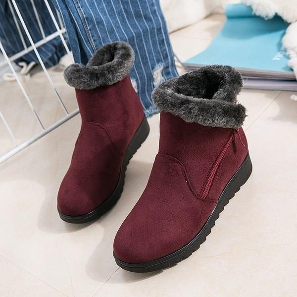 Women's Waterproof Rain Warm Fur Footwear Ankle Boots