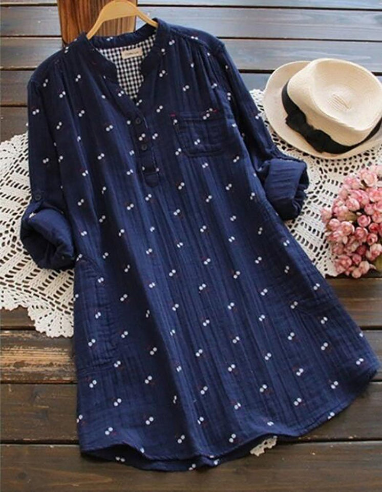 Women Wild Printed Long Sleeve Shirt Dress