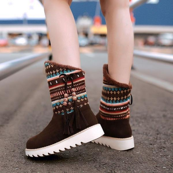 National Style Women Winter Flat Boots