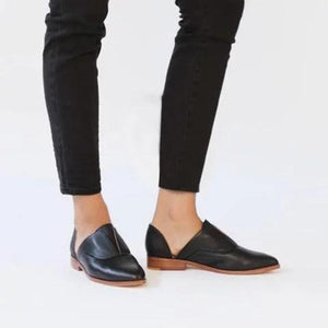 Vintage Flat Heel Casual Loafers Slip On Shoes