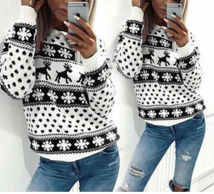 Christmas Fawn Print Sweater