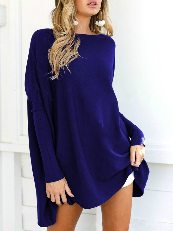 Solid Casual Crew Neck Long Sleeve Shirt