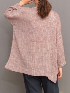 women Loose Comfortable Irregular Blouses Tops - Manychic