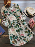 Women Daily Long Sleeve Casual Floral-print Floral Casual Dress - Manychic