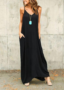Summer Boho Casual Long Maxi Evening Party Loose Beach Dresses Sundress - Manychic