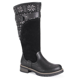 Warm Ladies Snow Boots High Boots Leather Martin Boots Winter Flats Boots