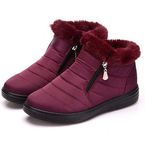 Casual Comfort Women Snow Boots Warm Waterproof Shoes - Manychic