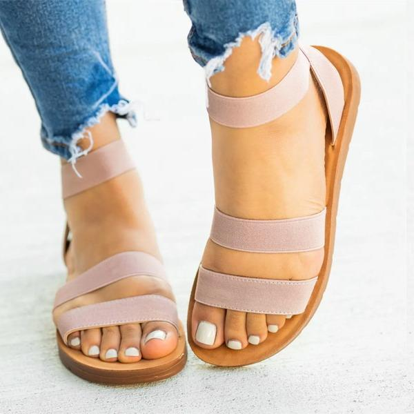 Women Casual Slip On Flats Sandals