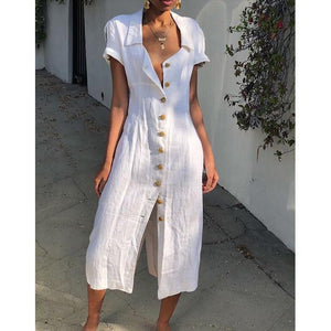 Women Daily Shift Buttoned Dresses