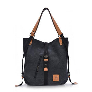 Canvas multifunctional Leisure Shoulder bag Backpack Messenger Bag - Manychic