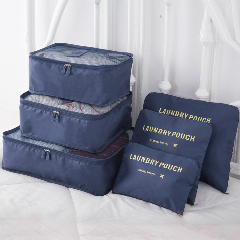 6Pcs Waterproof Nylon Luggage Organizer Storage Bags - Manychic