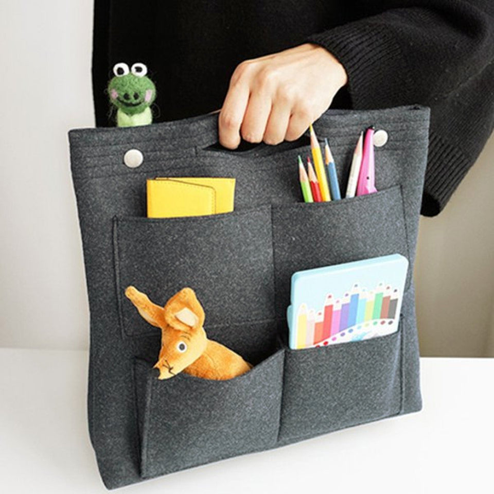 Bag in Bag Felt Casual Travel Multi-pockets Storage Bag Liner Package Cosmetic Bag - Manychic