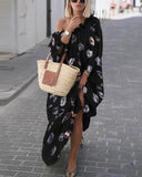 Long Sleeve Off Shoulder Holiday Daily Bohemian Maxi Dresses