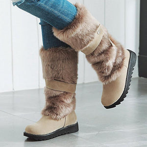 Women Flat Heel Winter Fur Boots