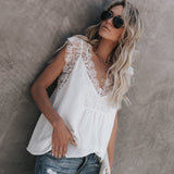 Women Summer Lace Top