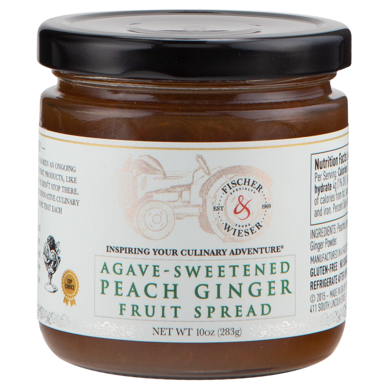 Agave-sweetened Peach Ginger Fruit Spread