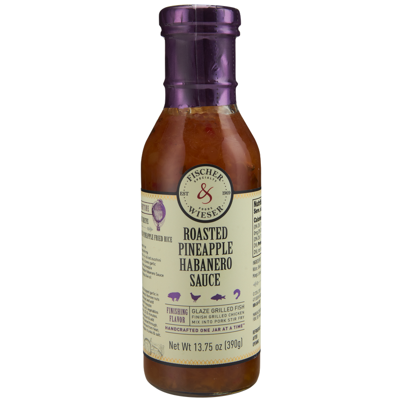 F&W Roasted Pineapple Habanero Sauce 13.75oz