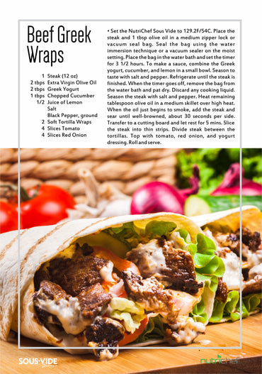 Beef Greek Wraps