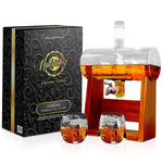 Glass Whiskey Decanter with Glasses NCGDS08