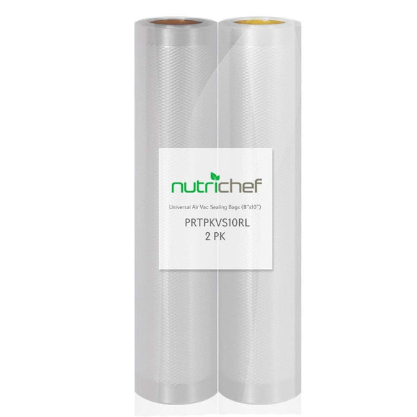 "NutriChef Two 8""X10' 4 mil Commercial Grade Vacuum Sealer Food Storage Rolls 