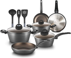 NutriChef 12-Piece Nonstick Kitchen Cookware Set NCCW12S