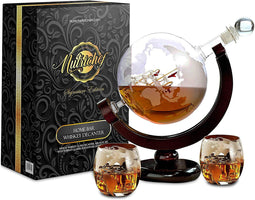 NutriChef Glass Whiskey Decanter NCGDS02