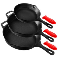 Cast Iron Skillet Pan Set NCCIPS3P49