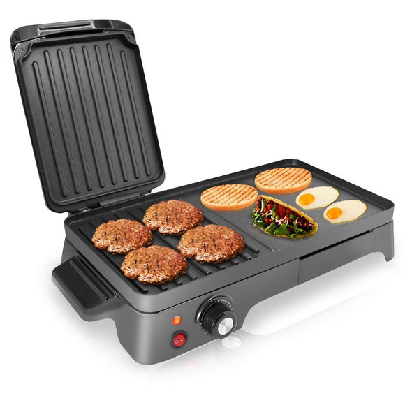 NutriChef 2-in-1 Hot Plate Electric Griddle PKGRIL43.5