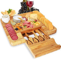NutriChef Bamboo Cheese Cutting Board PKCZBD10