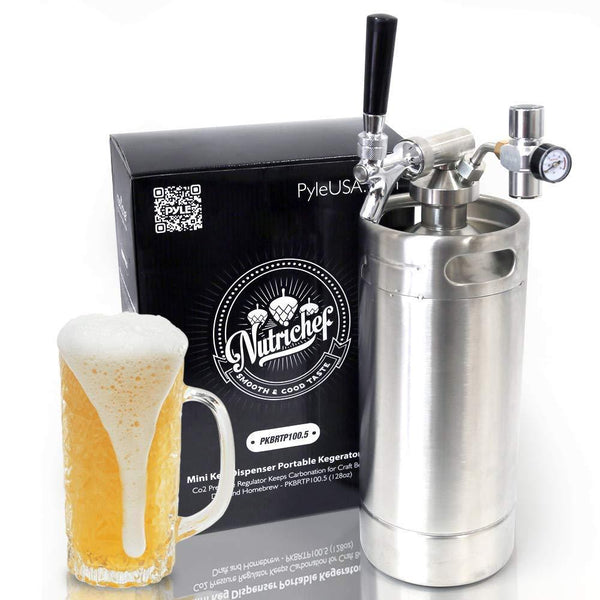 NutriChef Beer Mini Keg System 128oz PKBRTP100.5-Fridges, Coolers & Ice Makers-NutriChef Kitchen