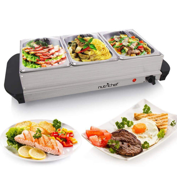 NutriChef Buffet Server and Food Warmer-Food Warmers & Serving-NutriChef Kitchen