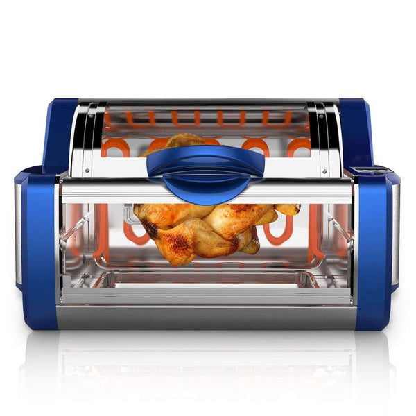 NutriChef Countertop Rotisserie Oven PKRTVG65BL-Ovens & Cookers-NutriChef Kitchen