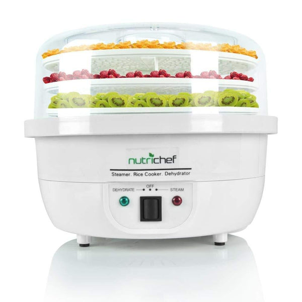 NutriChef Dehydrator Steamer & Food Cooker PKFDSRC10WT-Dehydrators & Steamers-NutriChef Kitchen