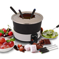 NutriChef Electric Chocolate Fondue Maker Set 2.1 Quart PKFNMK26