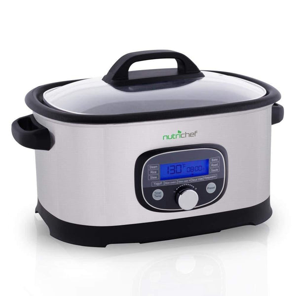 NutriChef Electric Slow Cooker 6.5+ QT PKPC35-Ovens & Cookers-NutriChef Kitchen