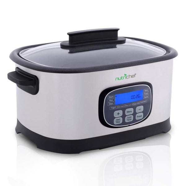 NutriChef Electric Slow Cooker 6.5 QT PKPC45-Ovens & Cookers-NutriChef Kitchen