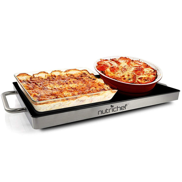 NutriChef Electronic Warming Tray 14.5'' x 8.6'' PKWTR15-Food Warmers & Serving-NutriChef Kitchen
