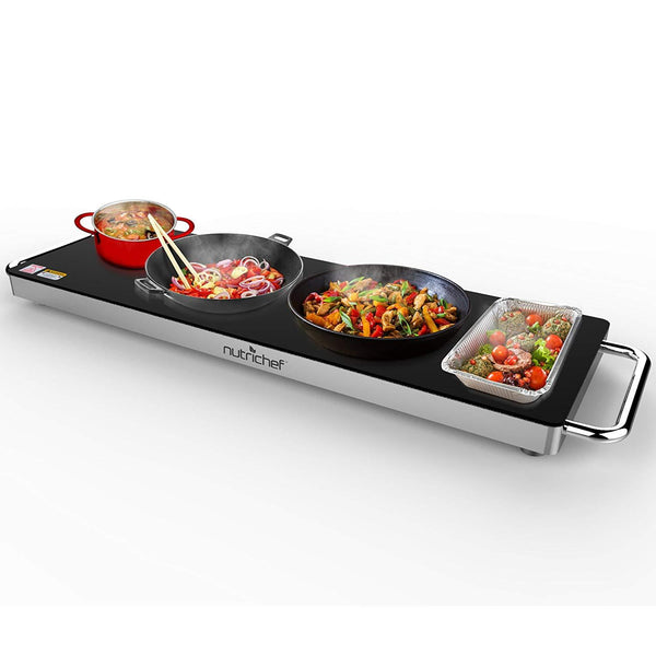 NutriChef Electronic Warming Tray 22.4'' x 6.7'' PKWTR40-Food Warmers & Serving-NutriChef Kitchen