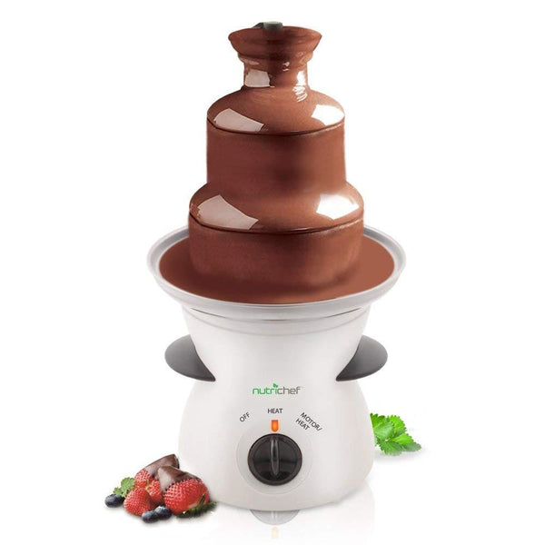 NutriChef Fondue Fountain 3 Tier PKFNMK16-Candy & Snacks-NutriChef Kitchen