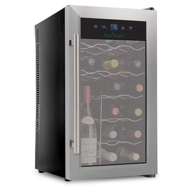 NutriChef Wine Cooler 18 Bottle Capacity PKTEWC18-Fridges, Coolers & Ice Makers-NutriChef Kitchen