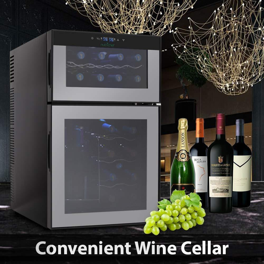 Wine Cooler 24-Bottle Capacity PKTEWC24 – NutriChef Kitchen