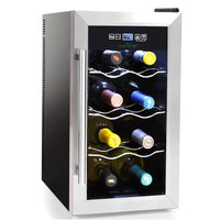 NutriChef Wine Cooler 8-Bottle Capacity PKTEWC08