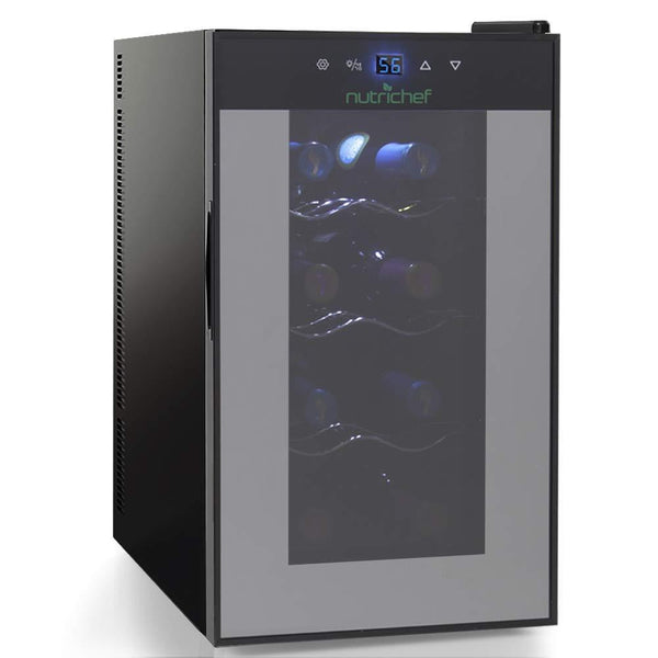 NutriChef Wine Cooler 8-Bottle Capacity PKTEWC80-Fridges, Coolers & Ice Makers-NutriChef Kitchen