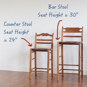 Counter stool vs bar stool size comparison