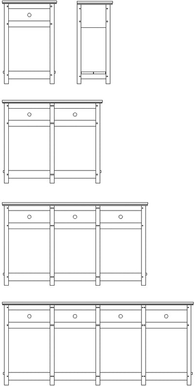 Lanark sideboard design variations