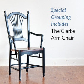 The clarke sheaf-back arm chair
