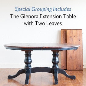 Glenora double pedestal extension table is included in this grouping