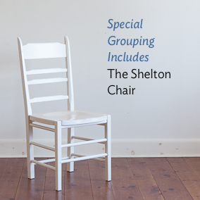 The shelton chair is included in this special grouping